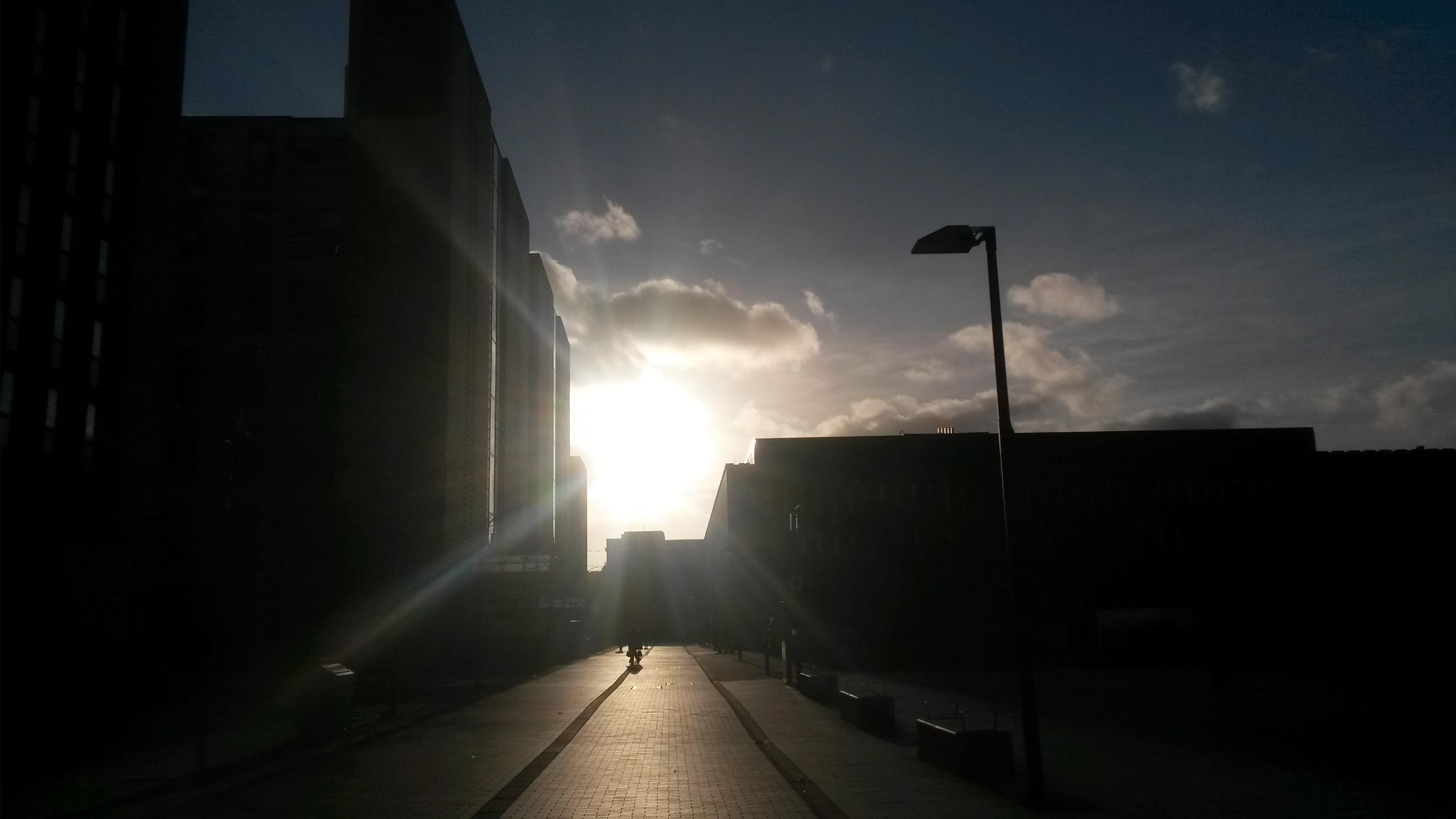 Sun over Oxford Road